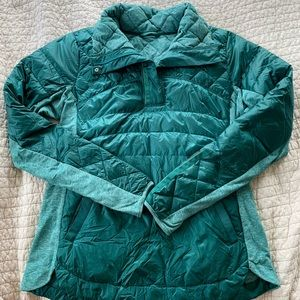 Lululemon Down For A Run Pullover- Teal